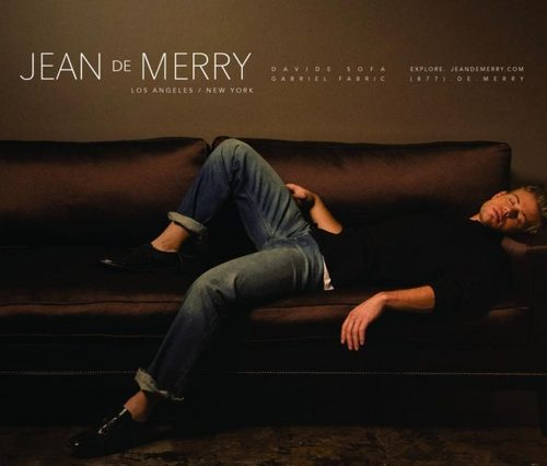 Trevor Donovan wallpaper with a couch, a family room, and a living room entitled Trevor modelling in Jean de Merry ads