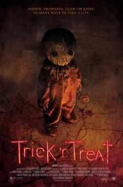 ホラー映画 壁紙 probably with アニメ called Trick または Treat movie poster