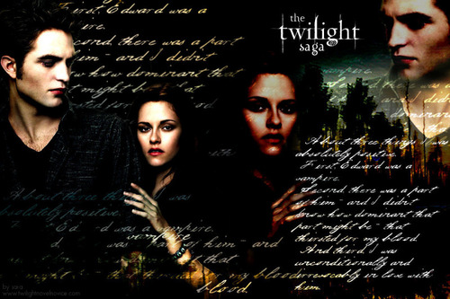 New Moon Movie wallpaper with a sign titled Twilight Saga