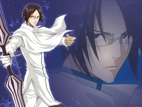 Uryu Ishida Hintergrund possibly with Anime called Uryu