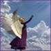 angel in sky - angels icon