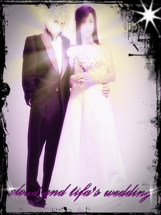 nuage and tifa's wedding