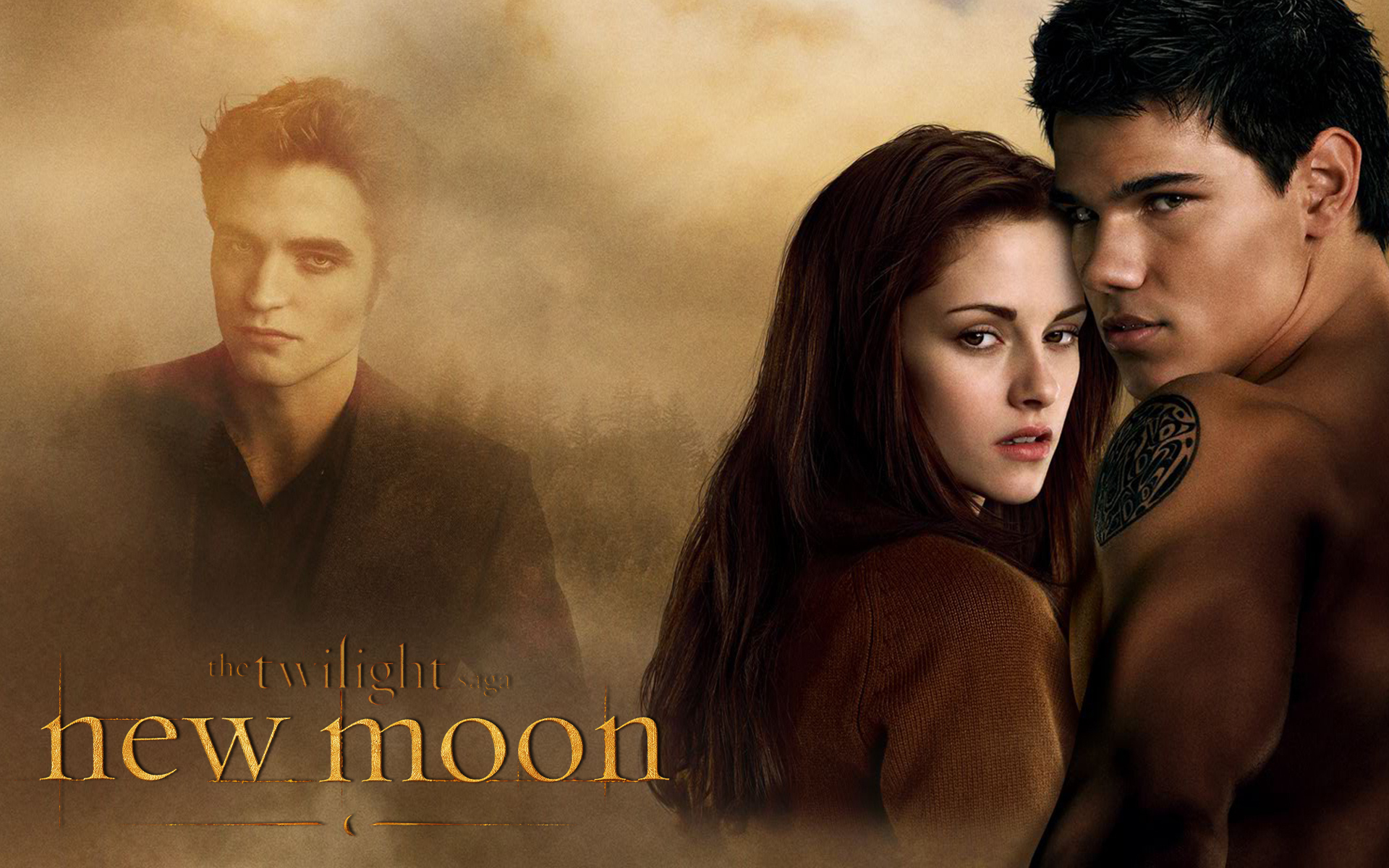 edward, bella and jacon wallpaper - twilight-series wallpaper