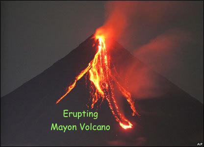 erupting Mayon vulkaan
