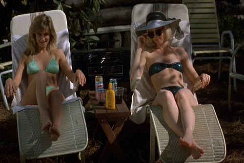 filmes de terror wallpaper possibly with a bikini, a boater, and a fedora entitled friday the 13th part 7
