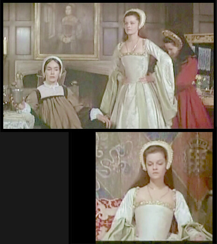 Anne Boleyn 壁紙 probably with a bridal gown, a hoopskirt, and a bridesmaid titled genevieve bujold