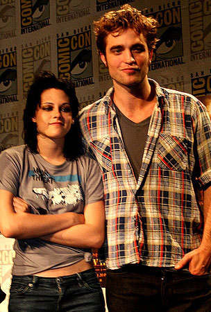 rob and krist The 'New Moon' threesome at the SDCC press conference