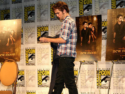 robert The 'New Moon' threesome at the SDCC press conference