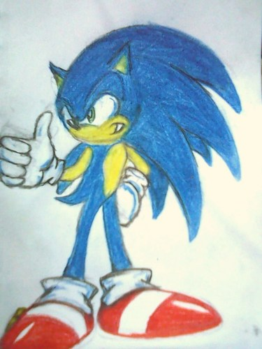sonic wit longer hair