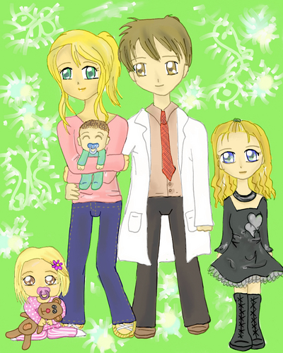 Dr. James E. Wilson Hintergrund with Anime titled wilson and family