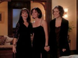 "Charmed wallpaper possibly with a well dressed person and a business suit entitled ""halliwell sisters""<3"