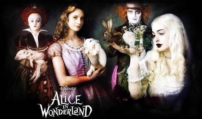Alice in wonderland fan banner