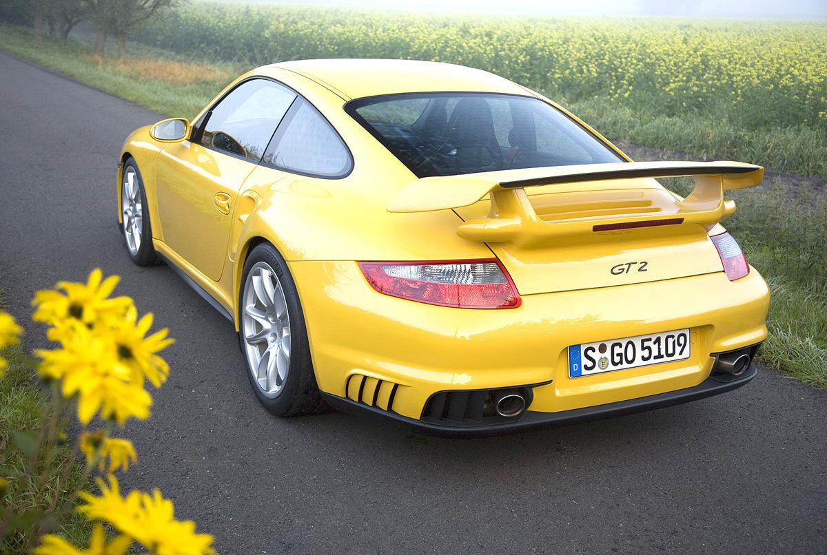 Yellow Porsche Cars
