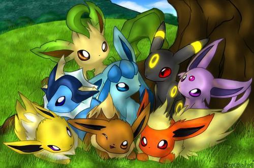 All of Eevee's evolutions