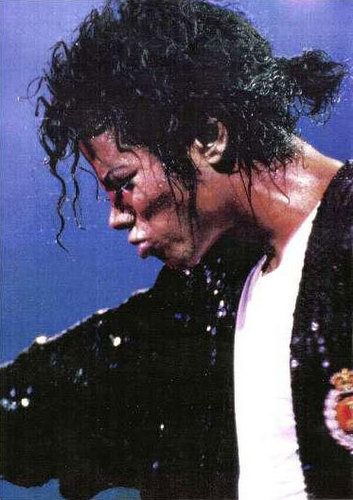 Bad tour - on stage