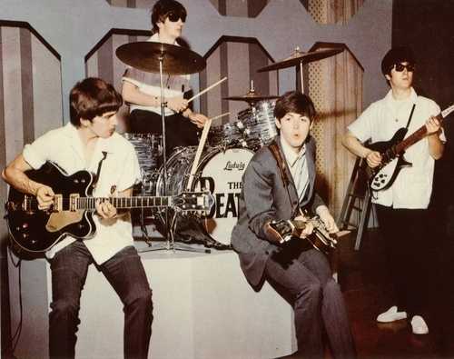 Beatles Ed Sullivan 显示 rehearsal