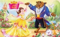 Belle and Beast - disney-couples wallpaper