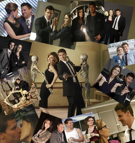 Bones and Booth moments collage