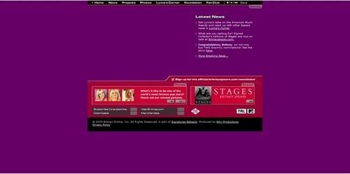BritneySpears.Com Past Websites