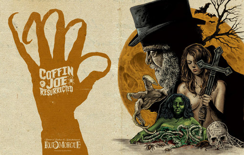 Horror films achtergrond possibly containing anime called Coffin Joe