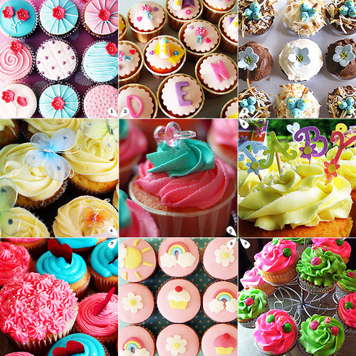 Cupcakes wallpaper probably with a gumdrop titled Cute cupcakes