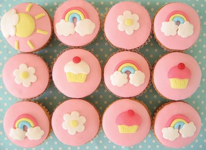 Cupcakes wallpaper containing a gumdrop titled Cute cupcakes