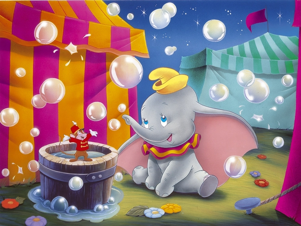 Baby Dumbo Hugs Wallpaper