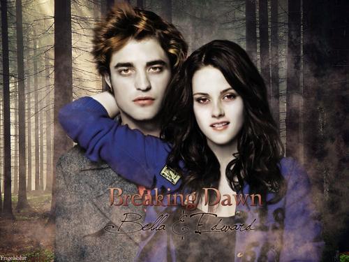 Edward and Bella Breaking Dawn