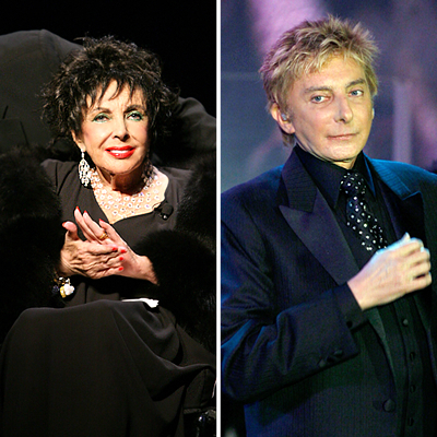 Elizabeth Taylor And Barry Manilow