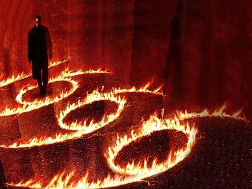 Horror Movies wallpaper possibly containing a fire called End of Days