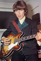 George Harrison guitar 2 - the-beatles photo