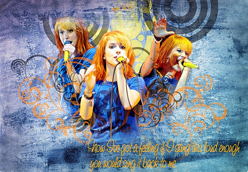 Brand New Eyes wallpaper probably containing a sign and anime titled Hayley Williams