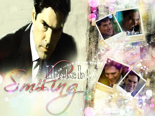 criminal minds wallpaper titled Hotch Smiling