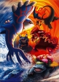 Kyogre,Groudon,Charizard,Blastoise &amp; Venusaur - legendary-pokemon photo