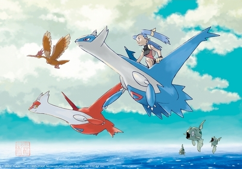 Legendary Pokemon achtergrond entitled Latias & Latios