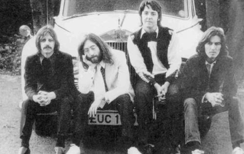 Leaning against John's Rolls-Royce