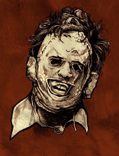 Leather Face Poster Art