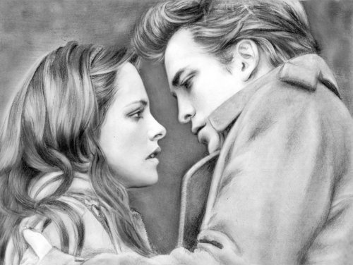 Loga90 - Edward & Bella - drawing made 由 her! :O