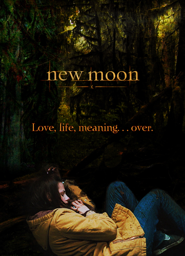 New Moon Movie wallpaper possibly with a sign called Love, Life, Meaning Over