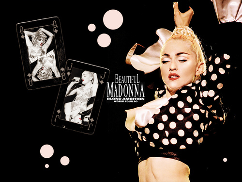The 90s wallpaper possibly with a portrait entitled Madonna 90s