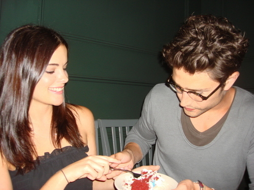 Matt and Jaimie eating cake
