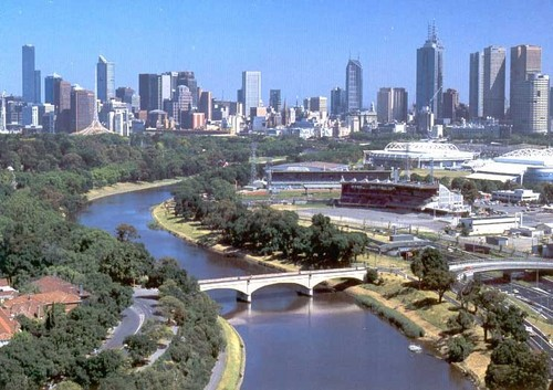Melbourne with Yarra River Landscape