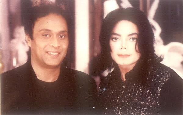 Michael with friends