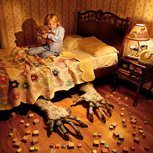 Horror Movies wallpaper containing a bedroom, a living room, and a boudoir titled Monster Under Your Bed