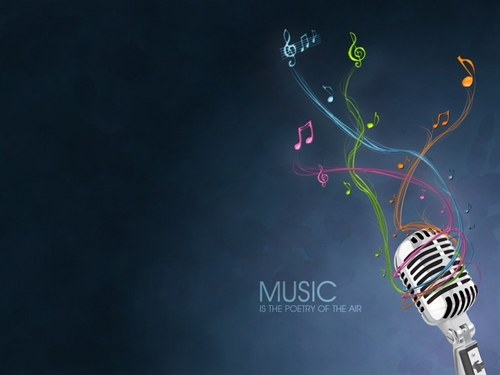 Music is the poetry - music Wallpaper