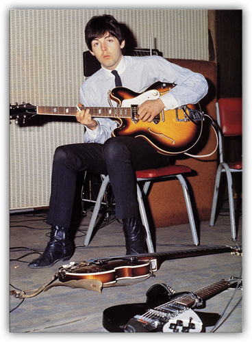 Paul Mccartney and his Epiphone Casino
