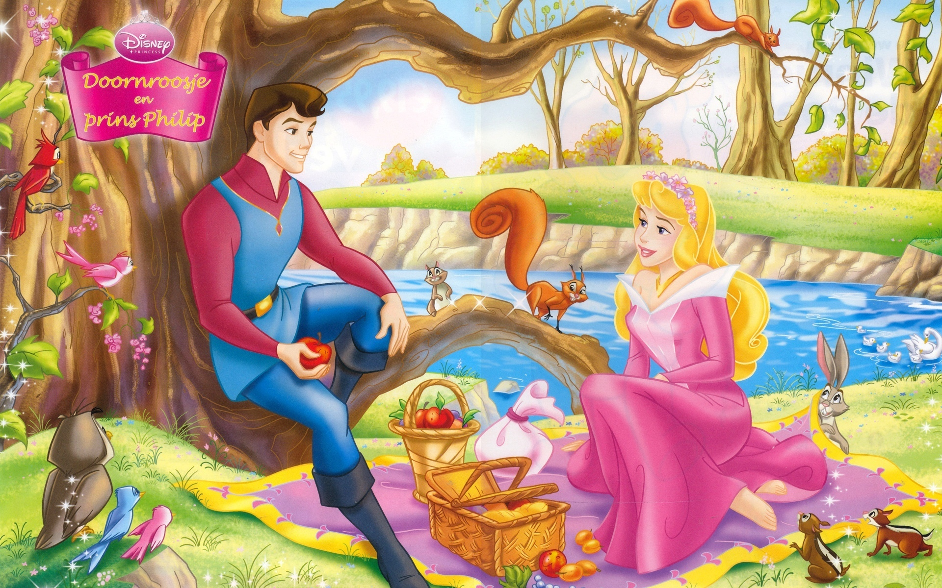 princess aurora and prince philip cartoon image
