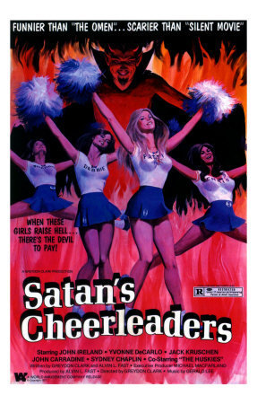 ホラー映画 壁紙 containing アニメ called Satan's Cheerleaders movie poster
