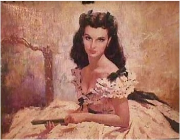 Gone with the Wind wallpaper possibly containing a portrait titled Scarlett Oil Painting