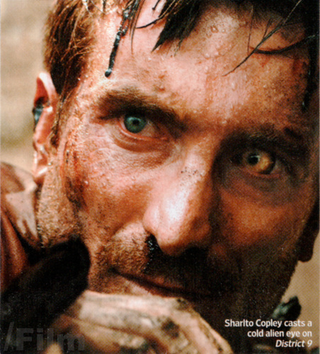 Sharlto Copley casts a cold alien eye on District 9